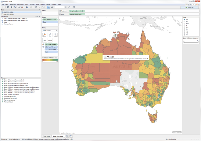 Australian Local Government Areas Lgas Now In Tableau 8 2 2 The Last Data Bender